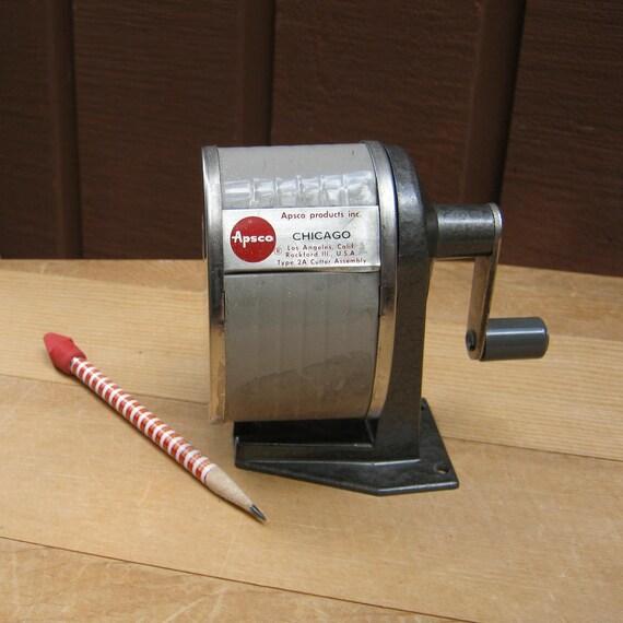 Retro Apsco Crank Pencil Sharpener