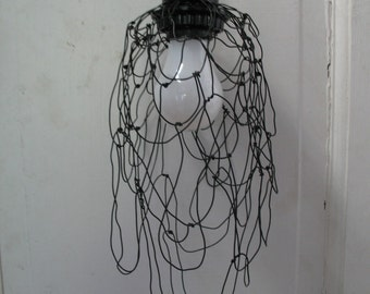Sludge Lamp, Drippy Lamp, Oozing Lamp, Wire Lamp, Loft Lamp, Industrial Lamp