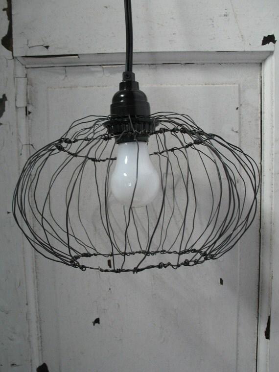 Plump, Wonky Cage Lamp