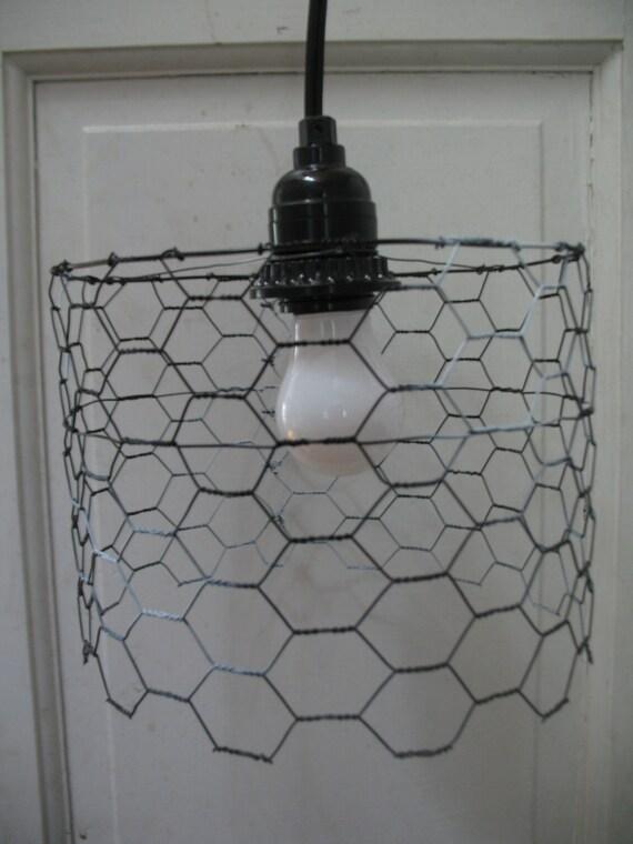 Positive/Negative Short Chicken Wire Lamp