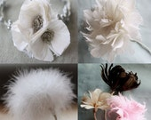 4 Feather Flower Tutorials, How to Make Feather Flowers, Feather Flower Pattern, Feather Flower Decor, DIY Decor, PDF Pattern & Tutorial
