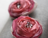 Fabric Flower Tutorials (eBook PDF Patterns) - Rolled Rosettes and Fluffy Cabbage Rose - With Headband and Accessories Tutorials