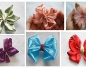 Hair Bow Tutorial, Hair Bow Supplies, How to Make Hair Bows, Ribbon Flowers