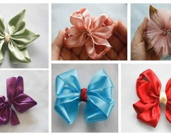 Hair Bow Tutorial, Hair Bow Supplies, How to Make Hair Bows, Ribbon Flowers