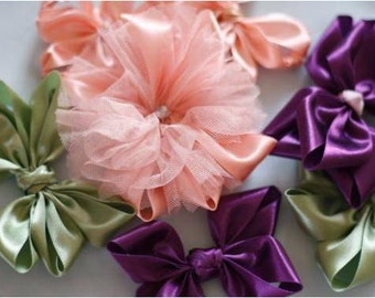 Hair Bow Pattern, Hair Bow Tutorial, diy Hair Bows, Sewing Pattern, PDF Pattern & Tutorial, How to Make Hair Bows, Hair Bow Supplies