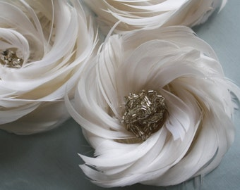 Feather Flower Tutorial, Feather Flower Pattern, How to Feather Flower,  PDF Pattern & Tutorial