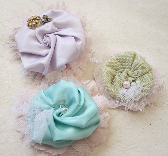 How To Make A Flower Girl Basket With Fabric : Fabric flower pattern sewing