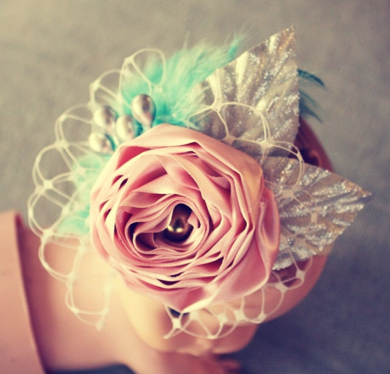 Flower Headband Tutorial: Items Similar To Fabric Flower Tutorial Pattern