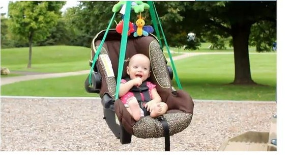 Green Swinga Baby Turn A Baby Car Seat Carrier Into A Safe
