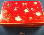 Jacques Superchocolat Locking Metal Box with Key Decorated with Ballerinas