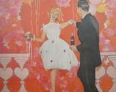 Framed Coca Cola Advertisement 1962 Valentine Couple