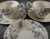 Teacups Forget Me Not Fine Staffordshire Ware