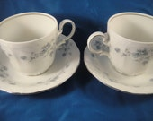RESERVED - Blue Garland Johann Haviland Tea For Two Cups and Saucers