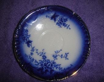 Flow Blue Saucer La Belle China