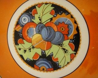Orange Luster Vintage German Serving Plate