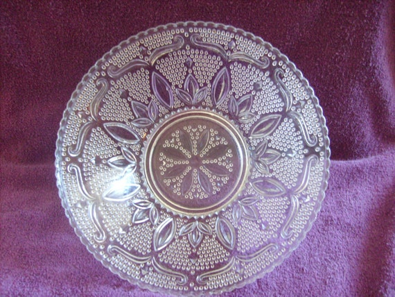 Crystal Fruit Bowl Heritage Pattern Glass Bowl