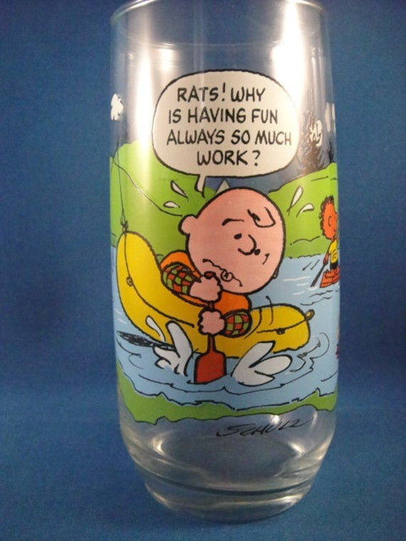 Camp Snoopy Collection McDonalds Drinking Glass