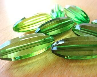 LARGE Grasshopper Green Beads (8)