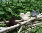 Felted Mouse Trio