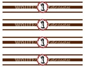 Sock Monkey Party Theme Bottle Labels (number)