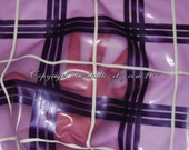 Latex Transparent Purple Tartan - checked material, sheet by the metre - can be completely custom