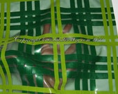 Latex Transparent Green Tartan - checked material, sheet by the metre - can be completely custom