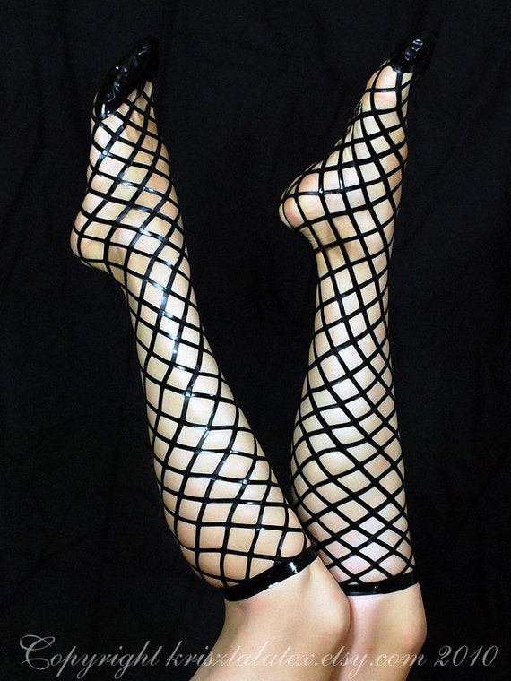 Real Latex Fishnet Socks - SALE