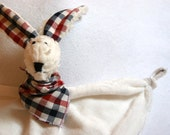 Natural white Snuggler Bunny (soother attached)