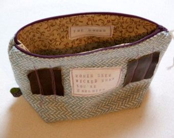 Quote Purse - zipper bag with personal message