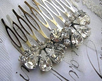 Bridesmaid gift, hair comb, vintage style, wedding hair comb ,HAIR ACCESSORIES ,sparkle ,Rhinestones, Wedding Gift