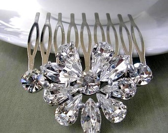 Bridal rhinestone hair comb, head piece, wedding HAIR ACCESSORIES