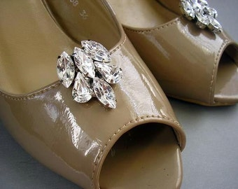 wedding jewelry Shoe Clips, sparkle vintage style,bridal wedding Shoe ACCESSORIES, Swarovski Rhinestones,