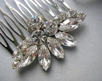 Rhinestones BRIDAL hair comb, vintage style, wedding HAIR ACCESSORIES, wedding hair comb