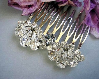 BRIDAL hair comb, vintage style, wedding hair comb ,HAIR ACCESSORIES ,sparkle ,Rhinestones hair comb ,