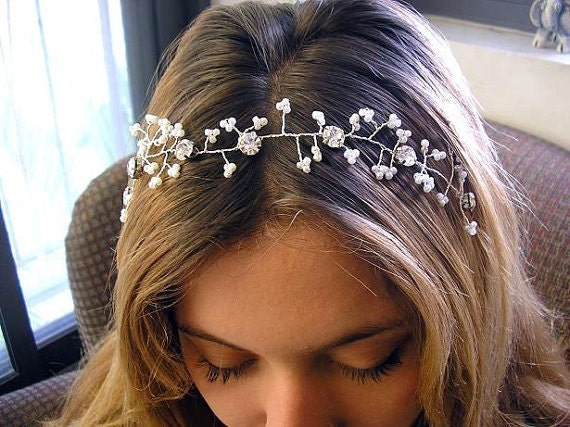 Bridal Hair Vine Wedding Hair Accessories Sparkle