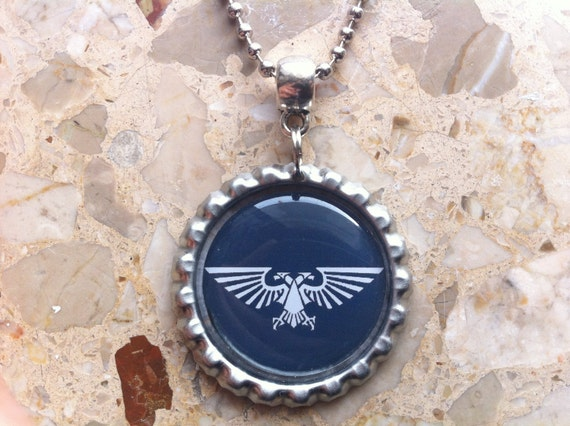 Imperial Aquila - Bottle cap necklace or key ring