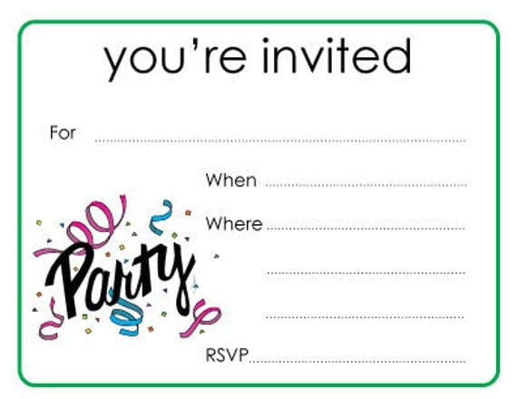 Items similar to Party You're Invited Cards on Etsy