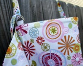 Nursing Cover with Pockets and Roll up-white floral