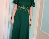 RESERVED FOR MARIE lucky charm 70's maxi dress M