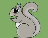 Squirrel Magnet  --  Free Shipping