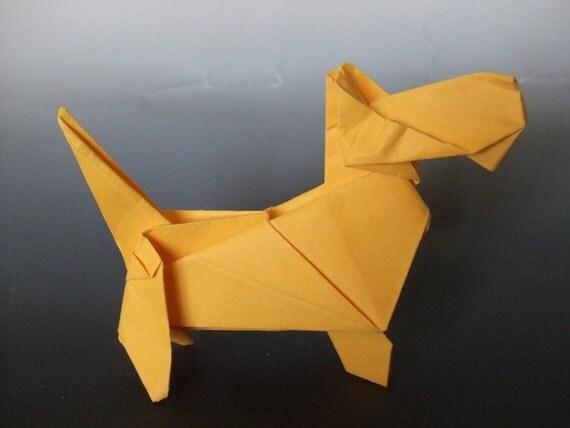 Origami Scottie Dog