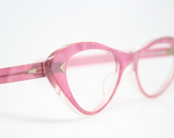 Pink cat eye glasses  vintage cateye eyeglasses frames