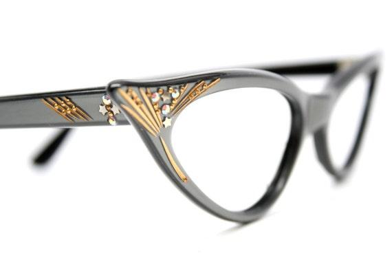 Cat Eye Glasses vintage rhinestone's cat eye frames NOS