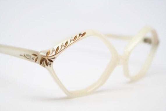 vintage Cat eye glasses rhinestone cat eye frames NOS