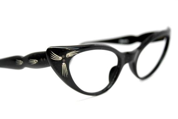 black cat eye glasses rhinestone cateye frames