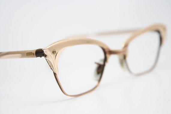 vintage Cat eye glasses Gaspari 12k cat eye frames NOS