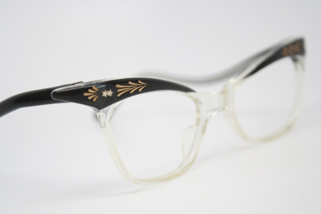 vintage cat eye glasses vintage cat eye by vintageopticalshop