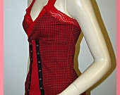 Red Lace Corset FREE SHIPPING