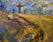 """8""""x10"""" Print from original painting: """"The Road To Calvary"""""""