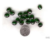 50 Emerald Green 8mm Faceted Crystal Beads PIF